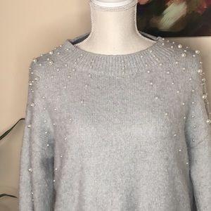 🌺 NWOT Pearl Detail Sweater